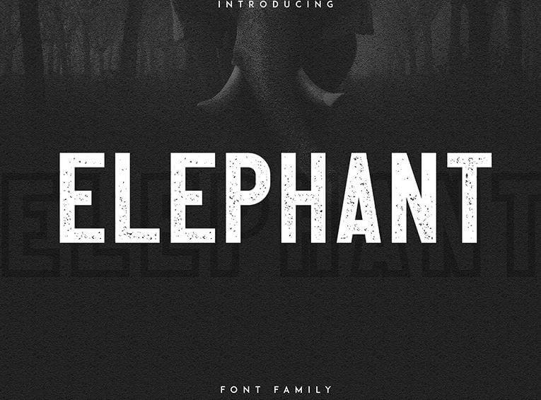 elephant font - Elephant Font Free Download