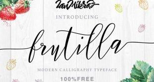frutilla font 310x165 - Frutilla Script Typeface Free Download
