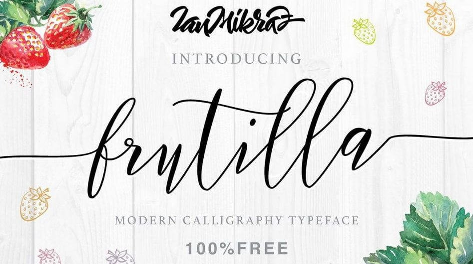 frutilla font - Frutilla Script Typeface Free Download