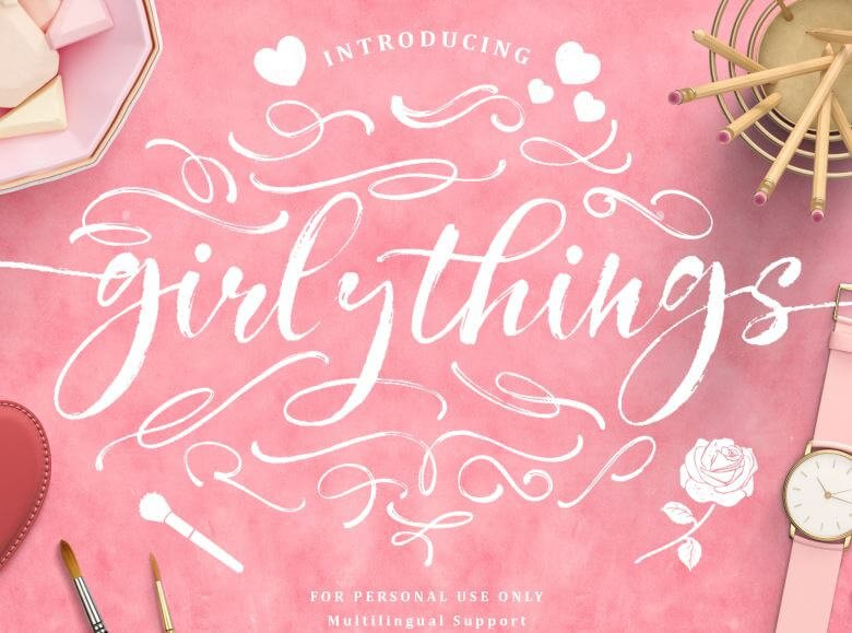 girly things font - Girly Things Script Font Free Downlaod