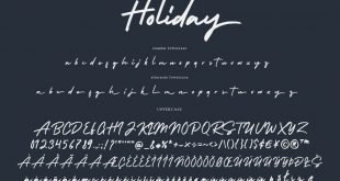 holiday script font 310x165 - Holiday Bold Script Font Free Download