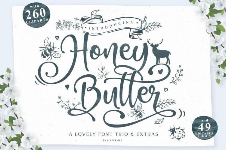 honey butter font - Honey Butter Script Font Free Download