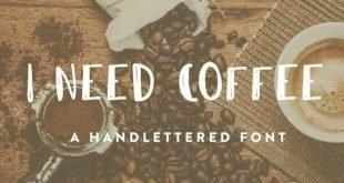 i need coffee font 310x165 - I Need Coffee Font Free Download