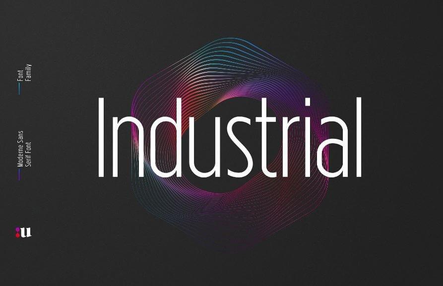 industrial font - Industrial Sans Font Free Download