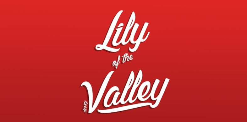 lilly of the valley 1 - Lily of the Valley Font Free Download