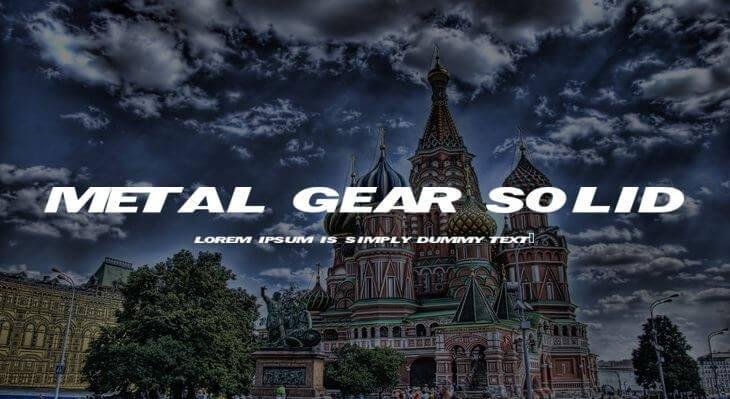 metal gear font - Metal Gear Solid Font Free Download
