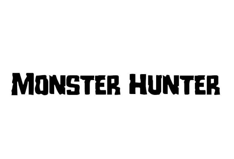 monster hunter font - Monster Hunter Font Free Download