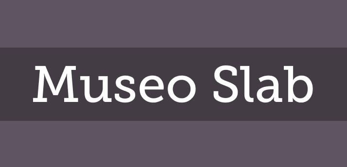 museo slab font - Museo Slab Font Free Download