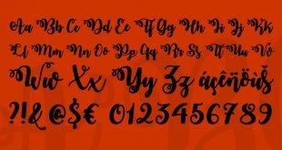 october twilight 310x165 - October Twilight Font Free Download
