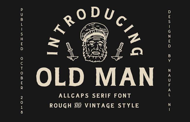 oldman font - Old Man Typeface Free Download