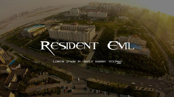 resident evil font - Resident Evil Font Free Download