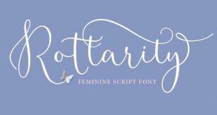 rotarity font 310x165 - Rottarity Feminine Script Font Free Download