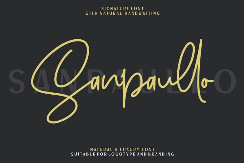 sanpaullo font - Sanpaullo Signature Font Free Download