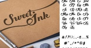 sweet ink font 310x165 - Sweet Ink Calligraphy Font Free Download