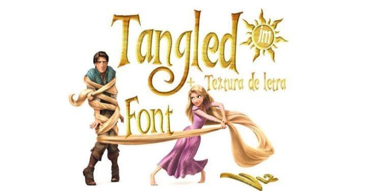 tangled font - Tangled Font Free Download
