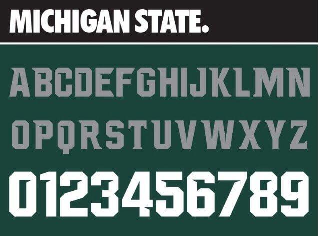 NCAA Michigan Spartans Font