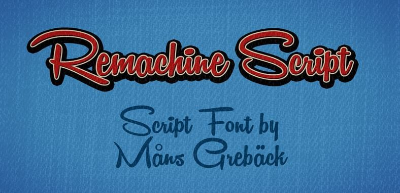 Remachine script font - Remachine Script Font Free Download