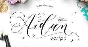 aidan script font 310x165 - Aidan Romantic Script Free Download