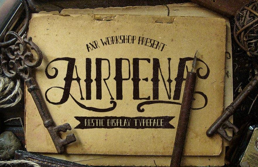 airpena font - Airpena Rustic Font Free Download
