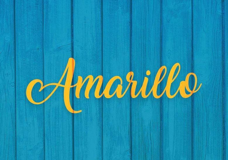 amarillo font - Amarillo Font Free Download