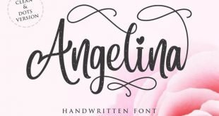 angelina font 310x165 - Angelina Handwritten Font Free Download