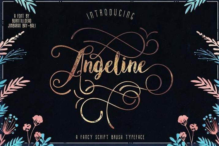 anglina font - Angeline Vintage Font Free Download