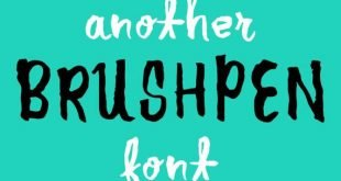 another brush pen font 310x165 - Another Brush Pen Font Free Download
