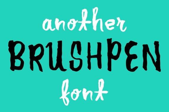 another brush pen font - Another Brush Pen Font Free Download