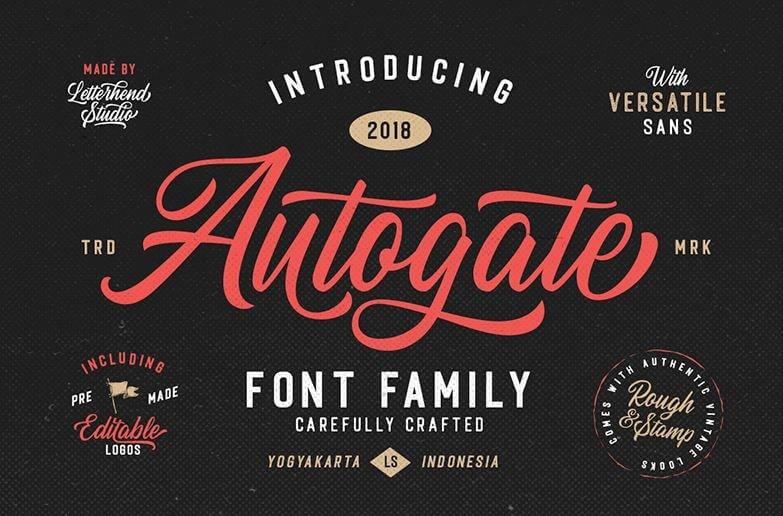 autogate font - Autogate Script Font Free Download