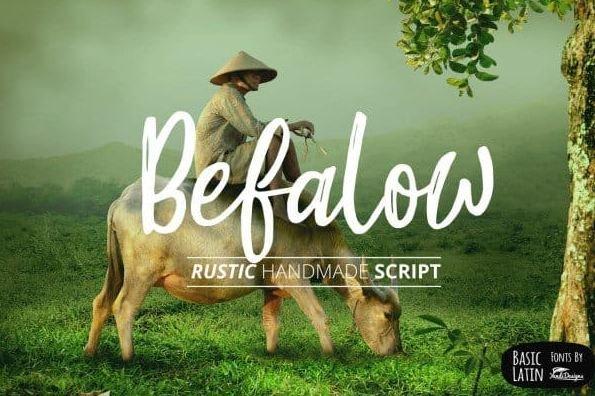 befalow font - Befalow Rustic Font Free Download