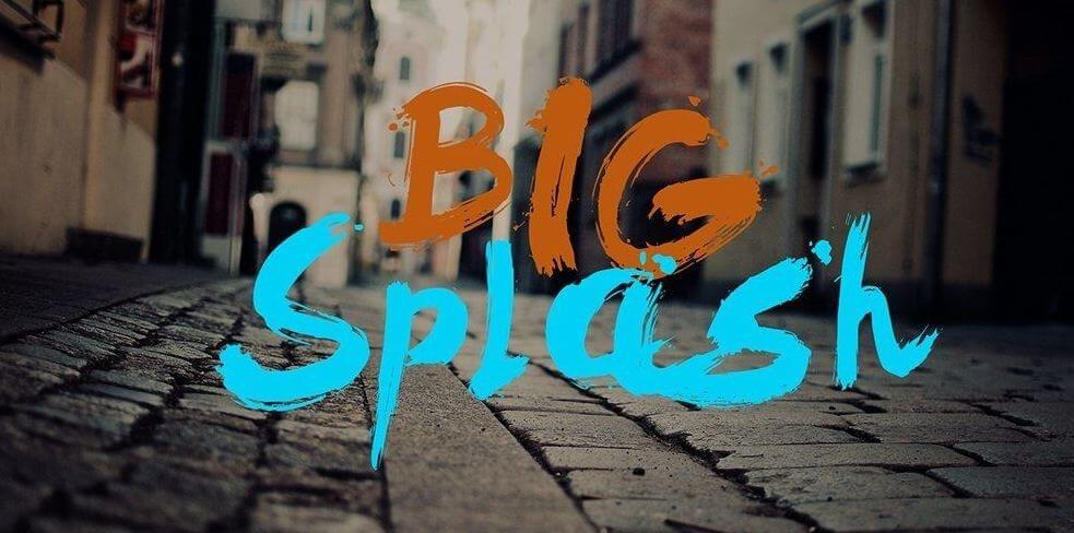 big splash font - Big Splash Brush Font Free Download