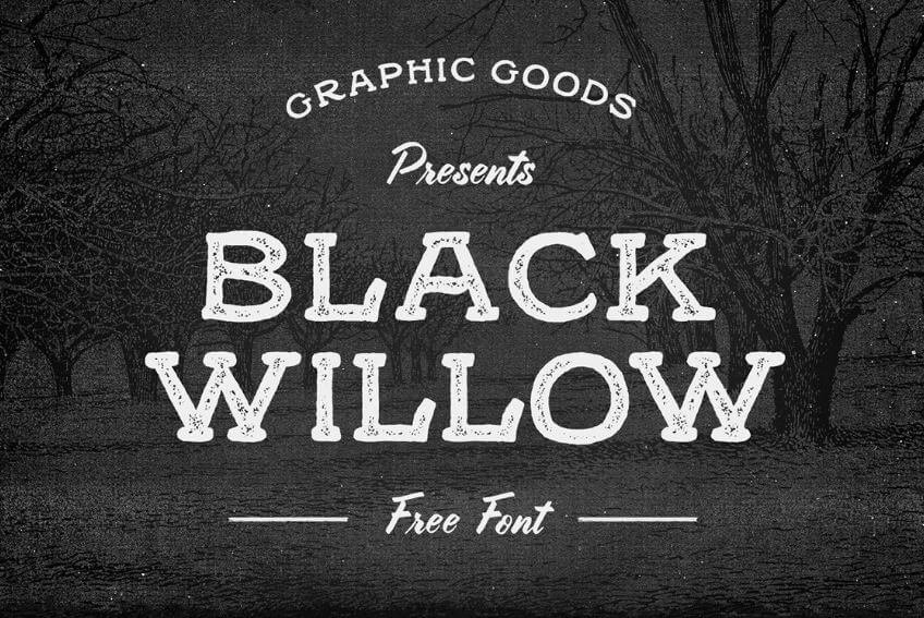 black willow font - Black Willow Font Free Download
