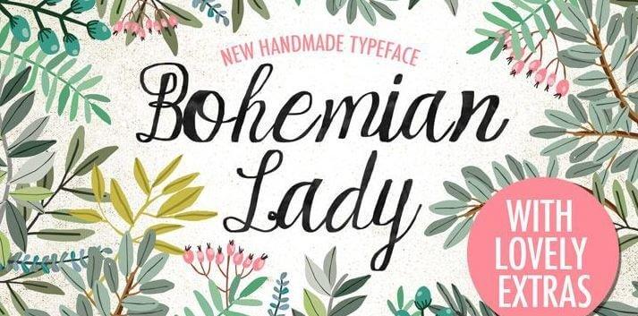 bohemian lady font - Bohemian Lady Font Free Download