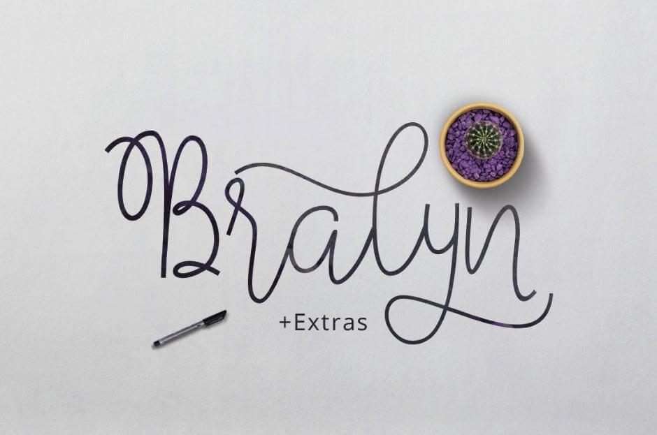 bralyn font - Bralyn Script Font Free Download