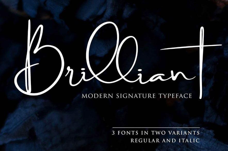 brilliant font - Brilliant Signature Font Free Download