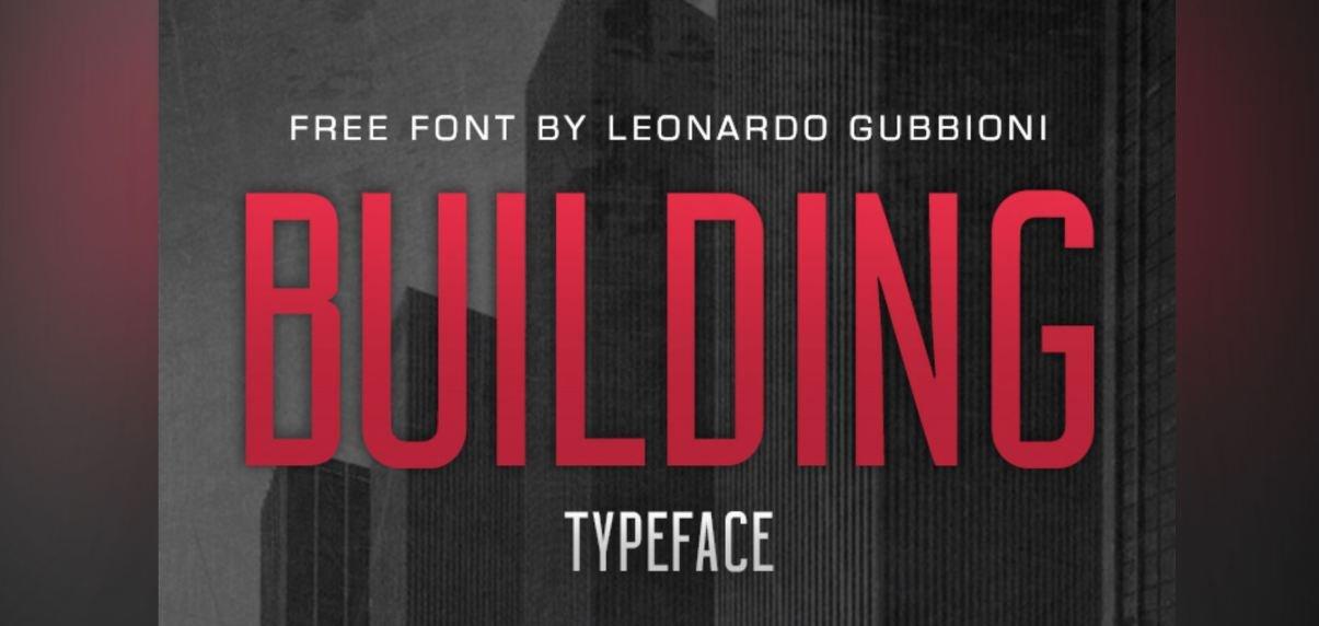 building font - Building Font Free Download