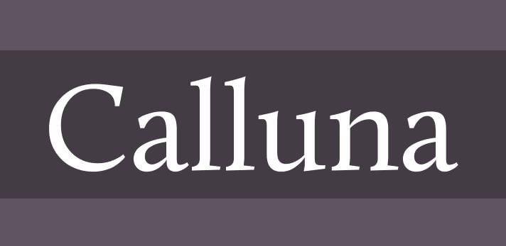 calluna font - Calluna Font Free Download