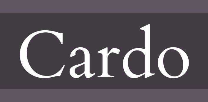 cardo font - Cardo Font Free Download