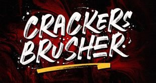 craker brusher font 310x165 - Crackers Brusher Font Free Download