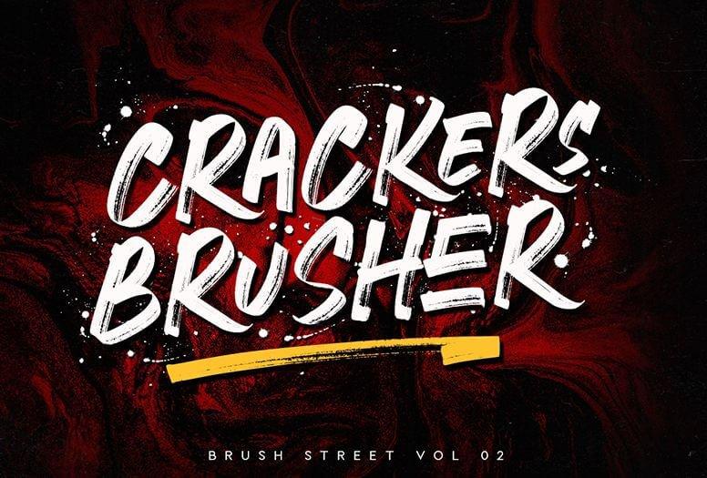 craker brusher font - Crackers Brusher Font Free Download
