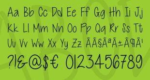 cutie pottie font 310x165 - Cutie Patootie Font Free Download