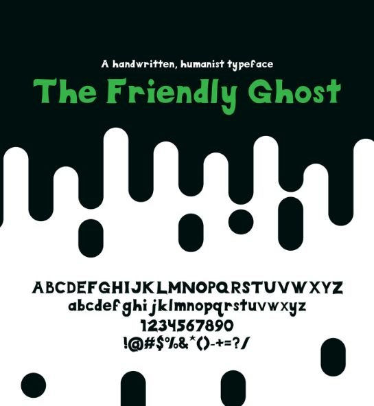 friendly ghost - The Friendly Ghost Font Free Download