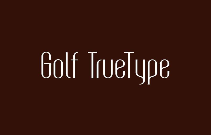 golf truetype font - Golf TrueType Font Free Download
