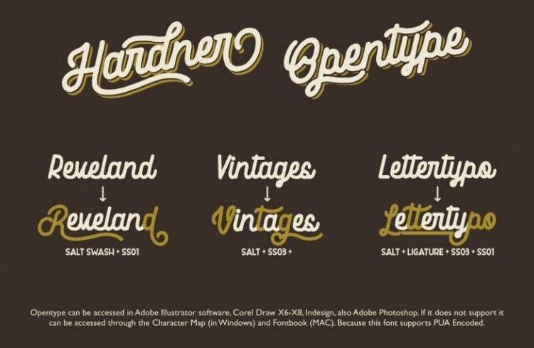 harder font - Hardner Vintage Font Free Download