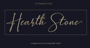 heart stone font 310x165 - Hearth Stone Script Font Free Download