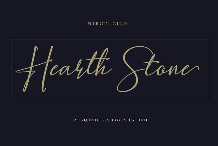 heart stone font - Hearth Stone Script Font Free Download