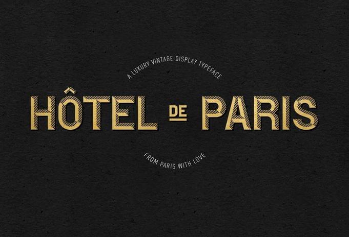 hotel de parish - Hotel De Paris Font Free Download