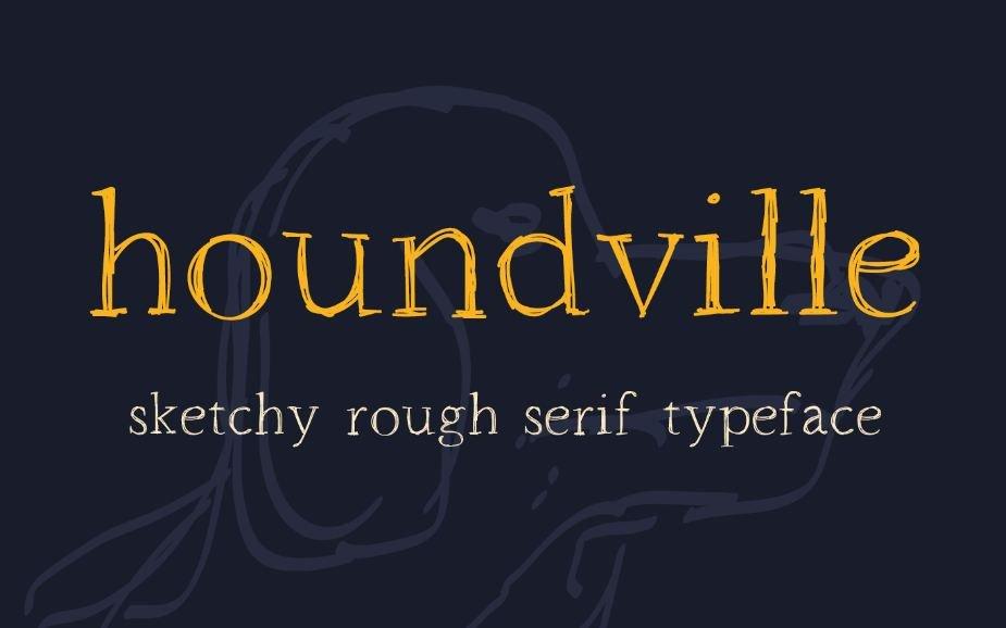 houndville font - Houndville Sketchy Font Free Download