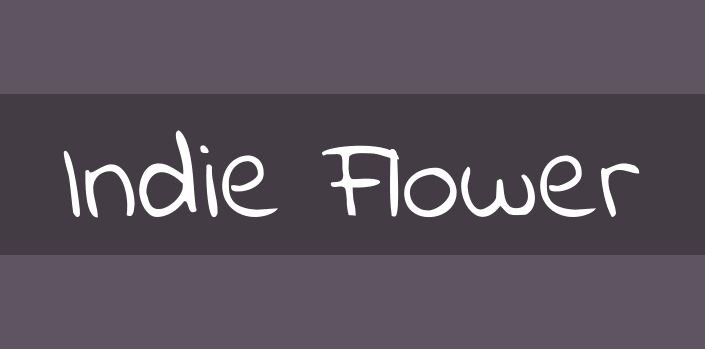 indie font - Indie Flower Font Free Download