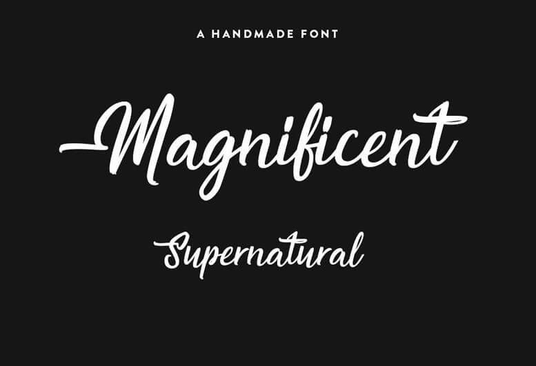 magnificient font - Magnificent Supernatural Font Free Download